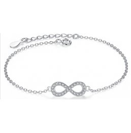 bracelet argent Infini
