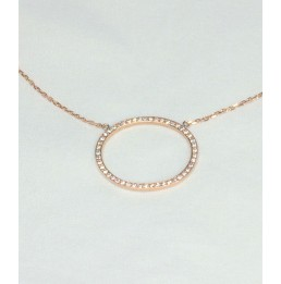 Collier or rose motif oval...